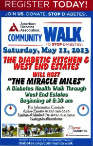 The Diabetic Kitchen's Miracle Miles Walk for a Cure of Diabetes