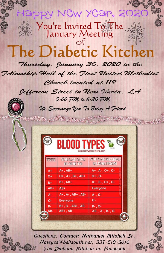 The January Meeting of The Diabetic Kitchen